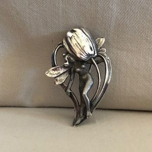 Vintage Sterling Silver Fairy Pin/Pendant
